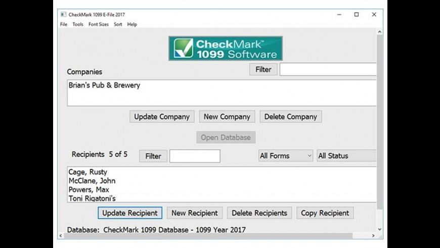 CheckMark 1099 for Mac - review, screenshots