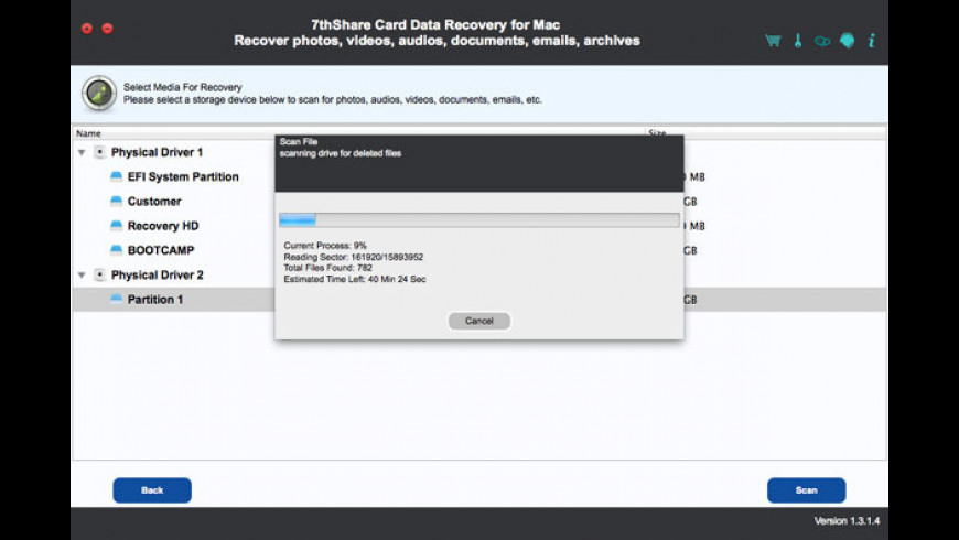 7thShare Card Data Recovery for Mac - review, screenshots