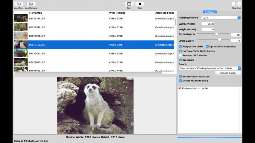 CM Shrink My Photo for Mac - review, screenshots