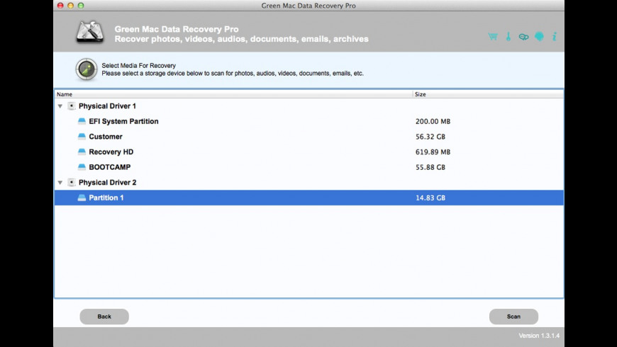 Green Mac Data Recovery Pro for Mac - review, screenshots