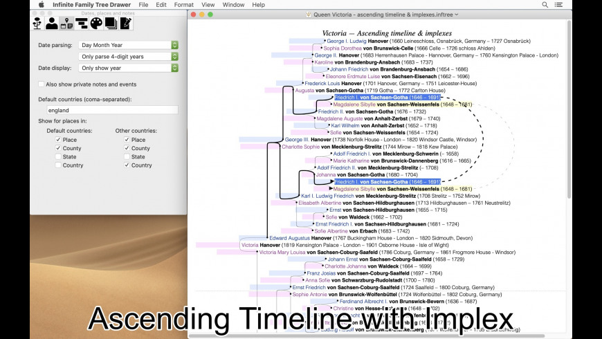 Infinite Family Tree Drawer for Mac - review, screenshots
