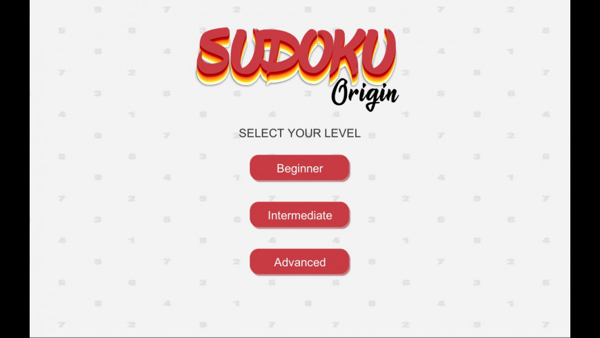 Sudoku Origin for Mac - review, screenshots