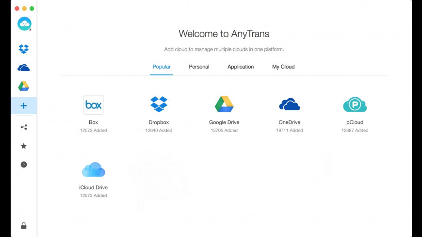 AnyTrans for Cloud for Mac - review, screenshots
