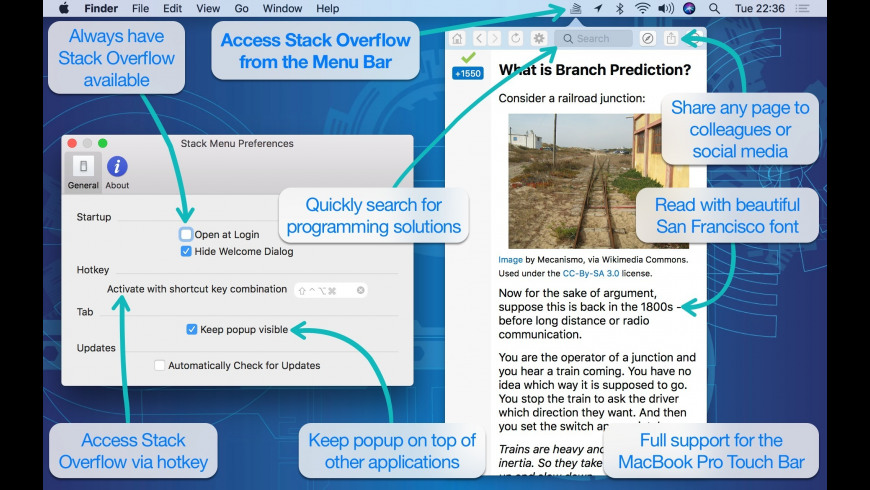 Stack Menu for Mac - review, screenshots