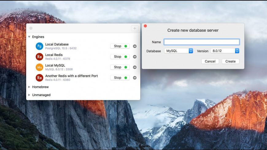 DBngin for Mac - review, screenshots