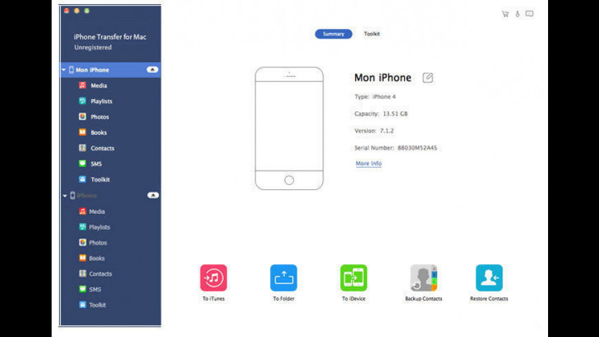 iPhone Transfer for Mac - review, screenshots