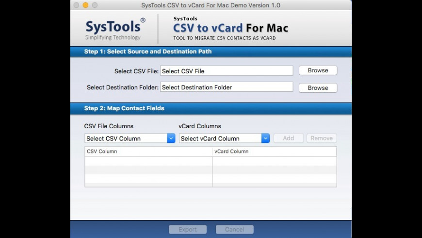 CSV to vCard Converter 1 0 Free Download for Mac   MacUpdate