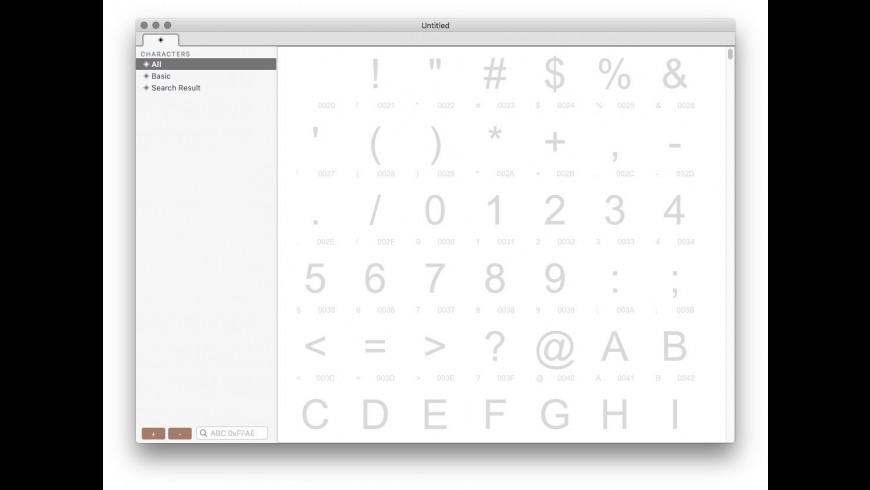 Crossfont for Mac - review, screenshots