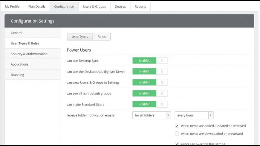 Egnyte Desktop Sync for Mac - review, screenshots