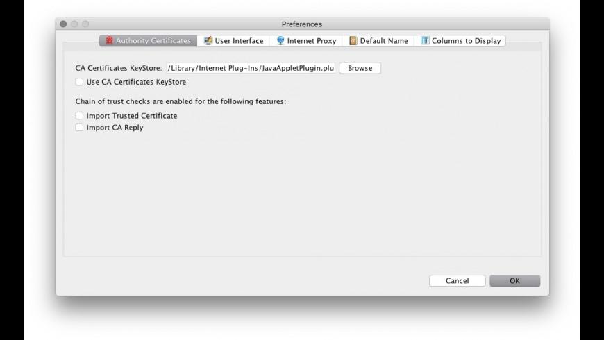 KeyStore Explorer for Mac - review, screenshots