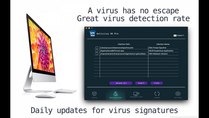 Antivirus VK Pro for Mac - review, screenshots