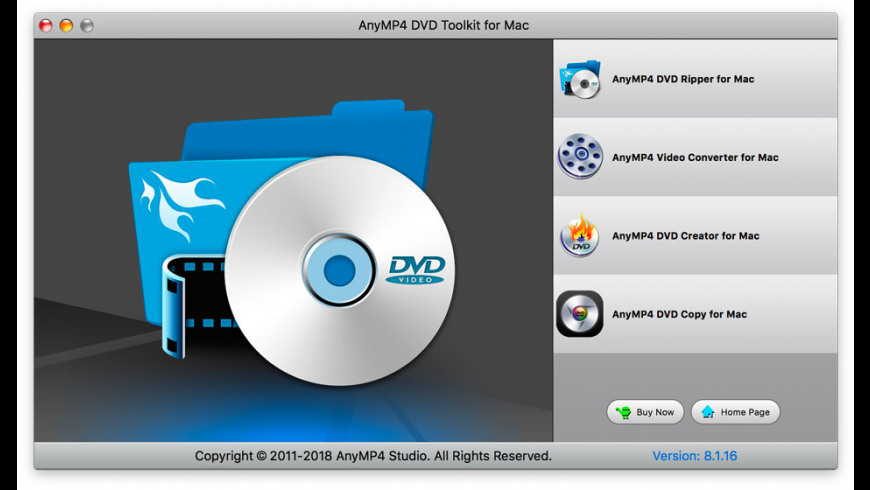 AnyMP4 DVD Toolkit for Mac for Mac - review, screenshots