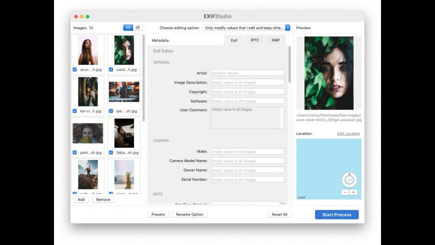 EXIF Studio 1 8 Free Download for Mac | MacUpdate