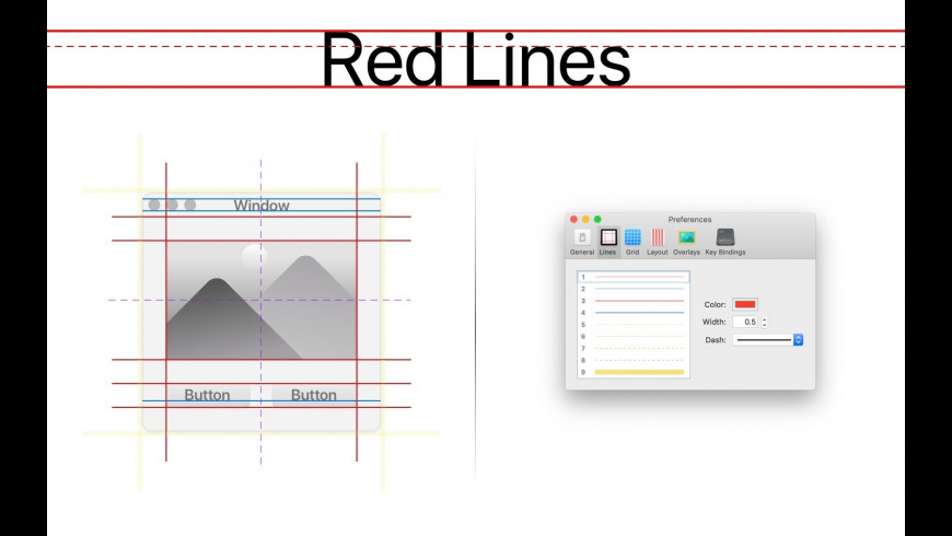 Red Lines Tools for Mac - review, screenshots