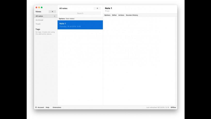 Standard Notes for Mac - review, screenshots