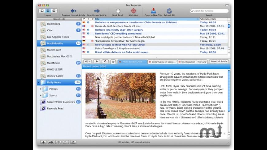 MacReporter for Mac - review, screenshots