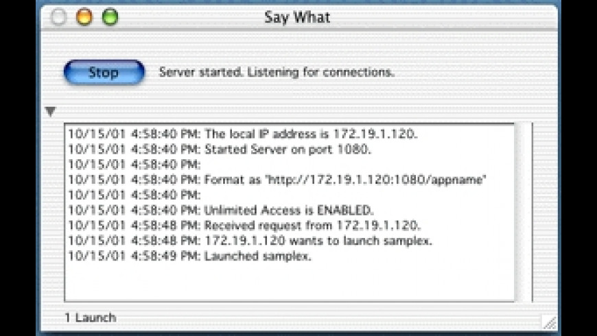 Say What for Mac - review, screenshots
