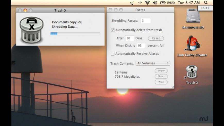 Trash X for Mac - review, screenshots