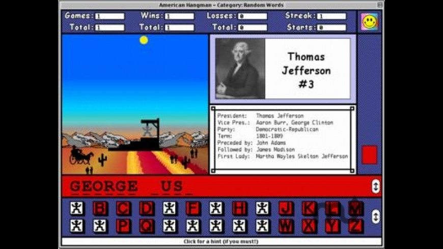 American Hangman - Presidents & States for Mac - review, screenshots