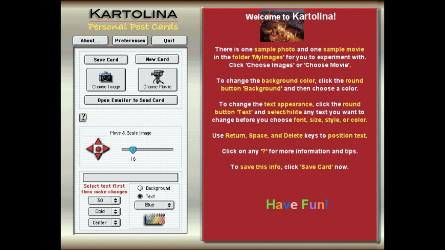 Kartolina Movie X for Mac - review, screenshots