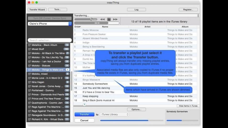 copyThing for Mac - review, screenshots