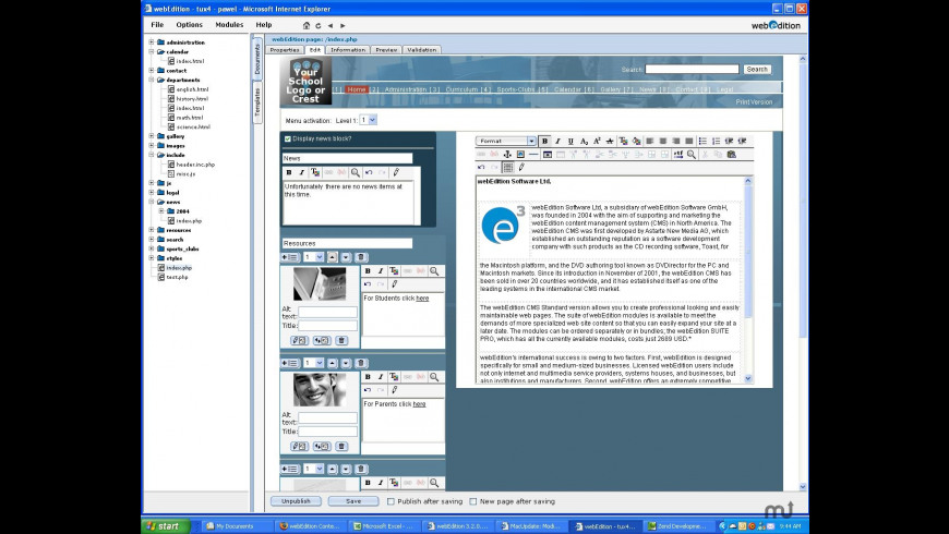 webEdition for Mac - review, screenshots