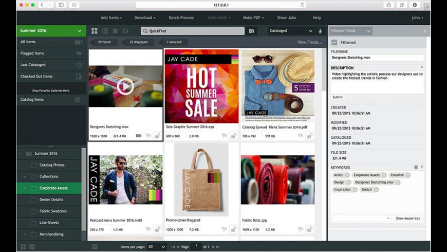 Extensis Portfolio Server for Mac - review, screenshots