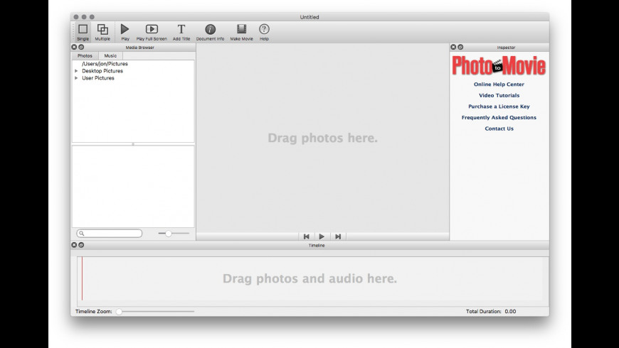 Photo to Movie for Mac - review, screenshots