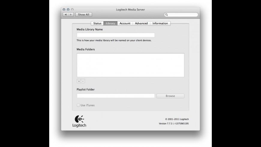 Logitech Media Server for Mac - review, screenshots